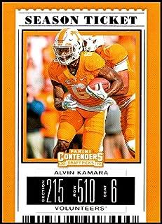 2019 Panini Contenders Draft Picks Season Ticket #5 Alvin Kamara Tennessee Volunteers Official Collegiate Football Card of the NFL Draft