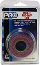 Pro Tapes Pocket Gaff Tape 1 inch (24mm) x 6 Yards Length Burgundy Matte. Pocket Size Gaffers Tape. Made in The USA. Holds Tight, Easy to Remove.