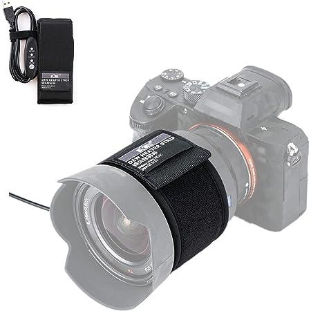 USB レンズ ヒーター 結露防止 夜露除去 3段階調節 温度コントローラー 付き 外径80mm以内 レンズ に対応