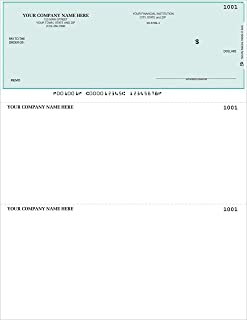 CheckSimple Laser Business Checks, Top Format - Compatible with QuickBooks/Quicken - Unlined (100 Qty) - Custom