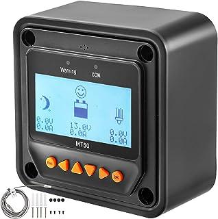 VEVOR Pantalla LCD de Medidor Remoto, MT50, Medidor de Distancia, para Regulador de Carga Solar MPPT, Regulador Solar, con Tipo de Conector RJ45, con Pantalla LCD, 65 mA, Controlador Panel Solar
