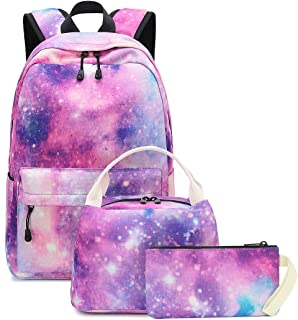 Bookbag Girls School Backpack Cute Schoolbag fit 15inch Laptop Insulated Lunch bag for Teens Boys Kids Travek Daypack (Gal...