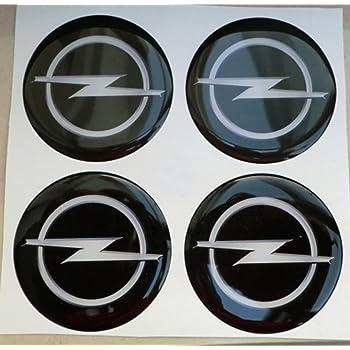 Set di 4 stemma adesivi 65mm per tappi cerchi ruote copriruote copricerchi coprimozzi cerchioni OpelLogo autoadesivo
