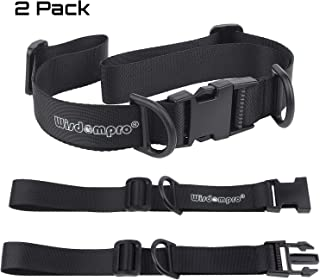 Wisdompro Backpack Chest Strap, Heavy Duty Adjustable Backpack Sternum Strap Chest Belt with Quick Release Buckle for Hiking and Jogging - with Slide Locks (2 Pack)