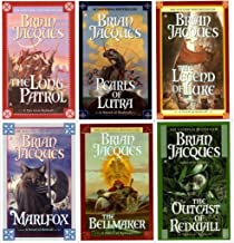 Brian Jacques Redwall Series 7-12 (Set of 6) : Bellmaker, Outcast, Pearls of Lutra, Long Patrol, Marlfox, Legend of Luke,