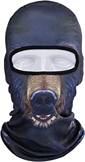 Runtlly Unisex Animal Face 3D Print Ski Balaclava Full Face Cycling Mask Ski Mask