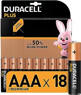 Duracell Plus AAA Alkaline Batteries, Pack of 18, 1.5 V LR03 MN2400