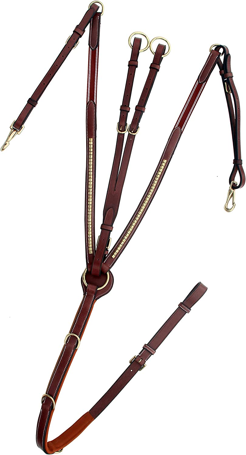 Max 55% OFF ExionPro Super-cheap Brass Clinched Soft Padded Horse Runni with Breastplate