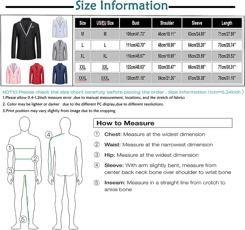 QXDLDHT Men's Casual Business Wedding Long Sleeve Buttons Slim Fit Suit Coat Jacket Lightweight Fleece Hoodies Unisex Slim
