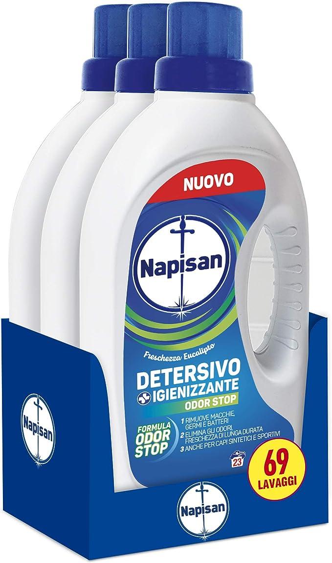 55 opinioni per Napisan Detersivo Lavatrice Liquido, Detersivo Igienizzante, Formula Odor Stop,