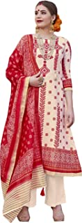 Gorgeous Cream & Red Palazzo Style Suit
