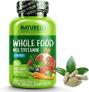 NATURELO Whole Food Multivitamin for Men - Natural Vitamins, Minerals, Antioxidants, Organic Extracts - Vegetarian - Best ...