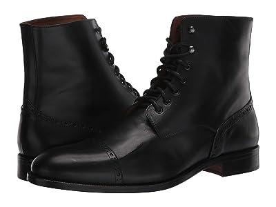 Massimo Matteo 7-Eye Cap Boot (Black 1) Men