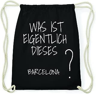 Barcelona Hipster Turn Bolsa Mochila de algodón – Color: Negro