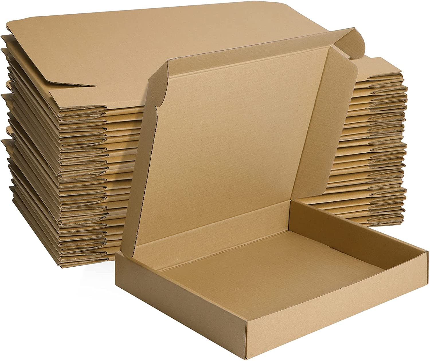 MEBRUDY 13x10x2 Inches Shipping Boxes Pack of 25, Small Corrugated Cardboard Box for Mailing Packing Literature Mailer