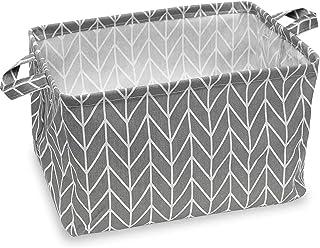 Feluna® Paniers de rangement en lin Feluna® divers designs ; seau à fleurs boîte à jouets boîte pliante panier d'organisat...