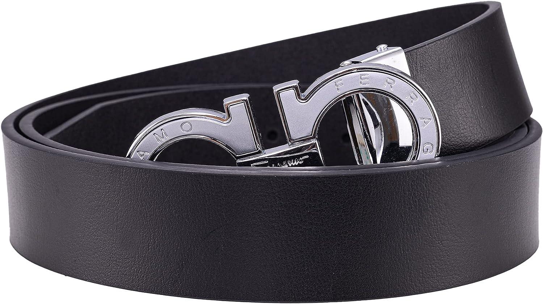 Men's Trendy Dress Belts Comfort Leather Adjustable Gold Buckle Fashion Belt by Trim to Fit For Men Gifts