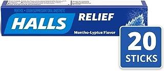 Halls Mentho-Lyptus Cough Drops - with Menthol - 180 Drops (20 sticks of 9 drops)