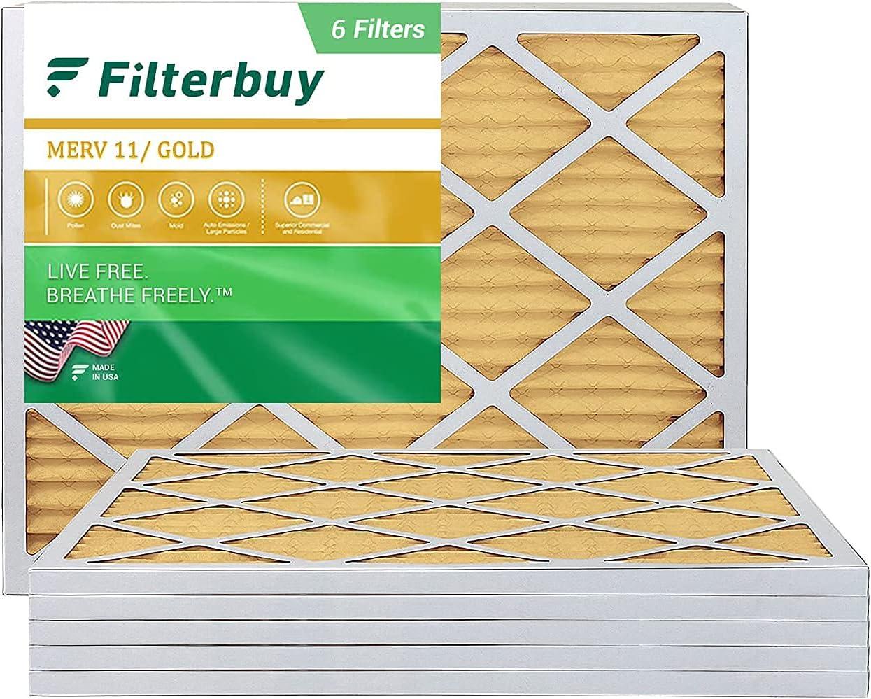 FilterBuy 18x24x1 Air Filter MERV 11 Pleated Surprise price Max 88% OFF Fi Furnace AC HVAC