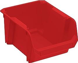 Stanley STST82736-1 opbergkist #2 (rood, slagvast polypropyleen, stapelbaar, wandmontage mogelijk, ideaal voor het opberge...