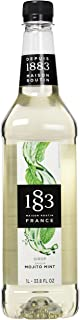 1883 Maison Routin - Mojito Mint Syrup - Made in France - Pet Bottle | 1 Liter (33.8 oz)