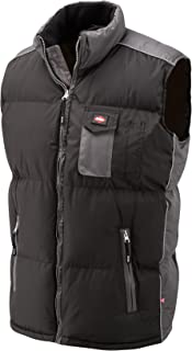Lee Cooper 703 Moss Black Padded Body warmer VEST BLK/GREY XXL