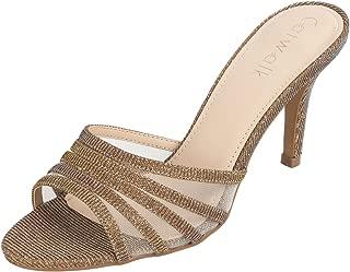 Catwalk Women's Shimmer Slip On Stilettos