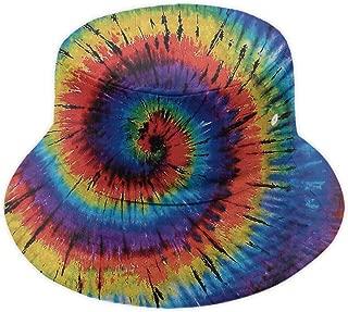 Tie Dye Unisex Casual Bucket Cap Wide Brim Fisherman Hat