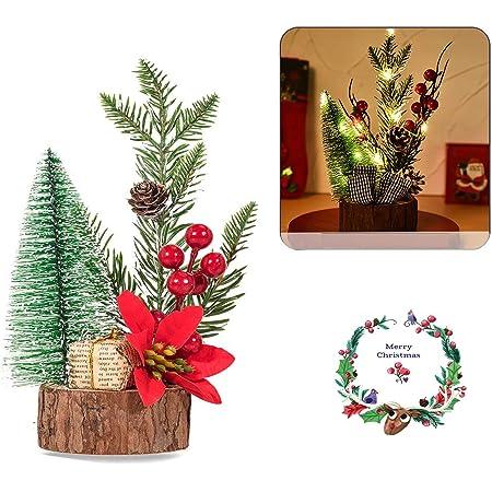 Estatuas de Centro y Mesa Valery Madelyn 2Pcs Adornos de Navidad de Madera 2Pcs 27.5cm LED Decoraciones de Navidad de Estatuilla de Navidad