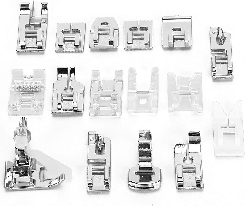 Ladieshow 16Pcs Presser Max 76% OFF Foot Set Machine Accessories Sewing Max 54% OFF for