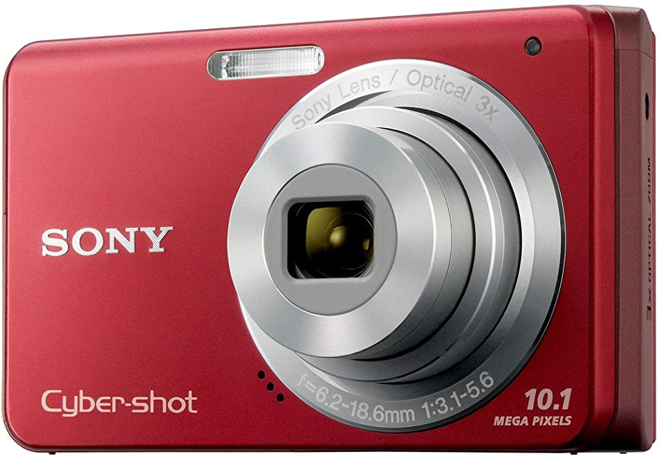 Sony Cybershot DSC-W180 10.1MP Digital Camera with 3x SteadyShot Stabilized Zoom and 2.7-inch LCD (Red) pscwzaye4795