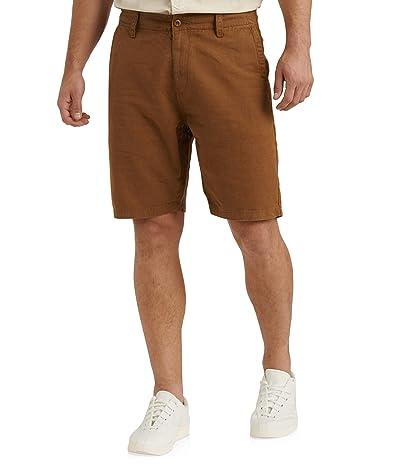 Lucky Brand Linen Flat Front Shorts (Copper) Men