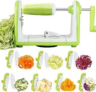 Spiraliseur de Légumes, 7 Lames Spaghetti Légume Spiralizer, Sedhoom Coupe-Legumes Spirale Manuel pour Courgettes, Concomb...