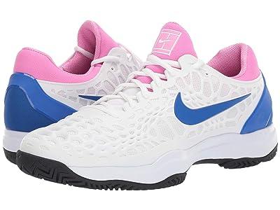 Nike Air Zoom Cage 3 HC (White/Game Royal/China Rose/Black) Men
