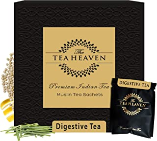 Sponsored Ad - The Tea Heaven 30 Muslin tea bags (2 samples) Digestive Herbal Tea blended with Lemongrass, Ginger, Fennel ...