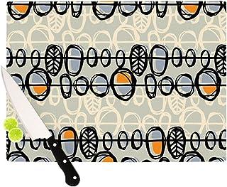 kess inhouse Gill Eggleston Benín tabla de cortar, 11,5por 15.75-inch