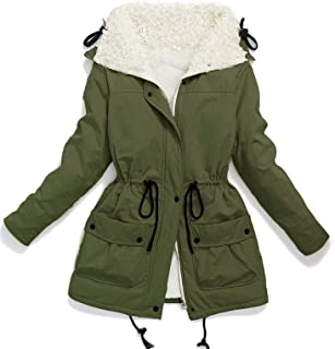 edc82b9cbccc9 Ecupper Women s Plus Size Coats Shepra Lined Parkas with Faux Fur  Drawstring Jackets