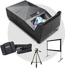 $1424 » EliteProjector Ultra Short Throw Projector Bundle Low Input Lag Gaming 37200mAh Li-Ion Battery Power Bank, Elite Screens O...