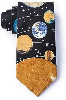 Solar System Boys 100% Silk Astronomy Planets,Sun & Moon Necktie Tie Neckwear