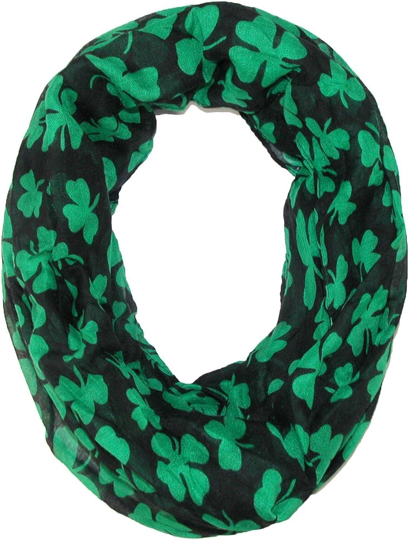David & Young Women's St. Patricks Day Shamrock Infinity Loop Scarf