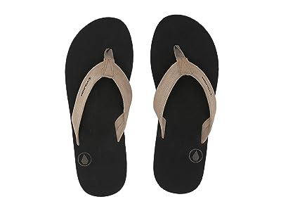 Volcom Driftin Leather Sandal (Khaki) Men