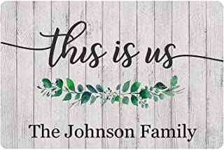Family Decor Sign Letters Teal Wooden Black Custom Personalized Gray White Rustic