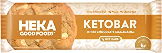 Sponsored Ad - Heka Good Foods Low Carb Keto Bars, White Chocolate Macadamia, 1g Net Carb, 10g Protein, No Sugar Added, Gr...