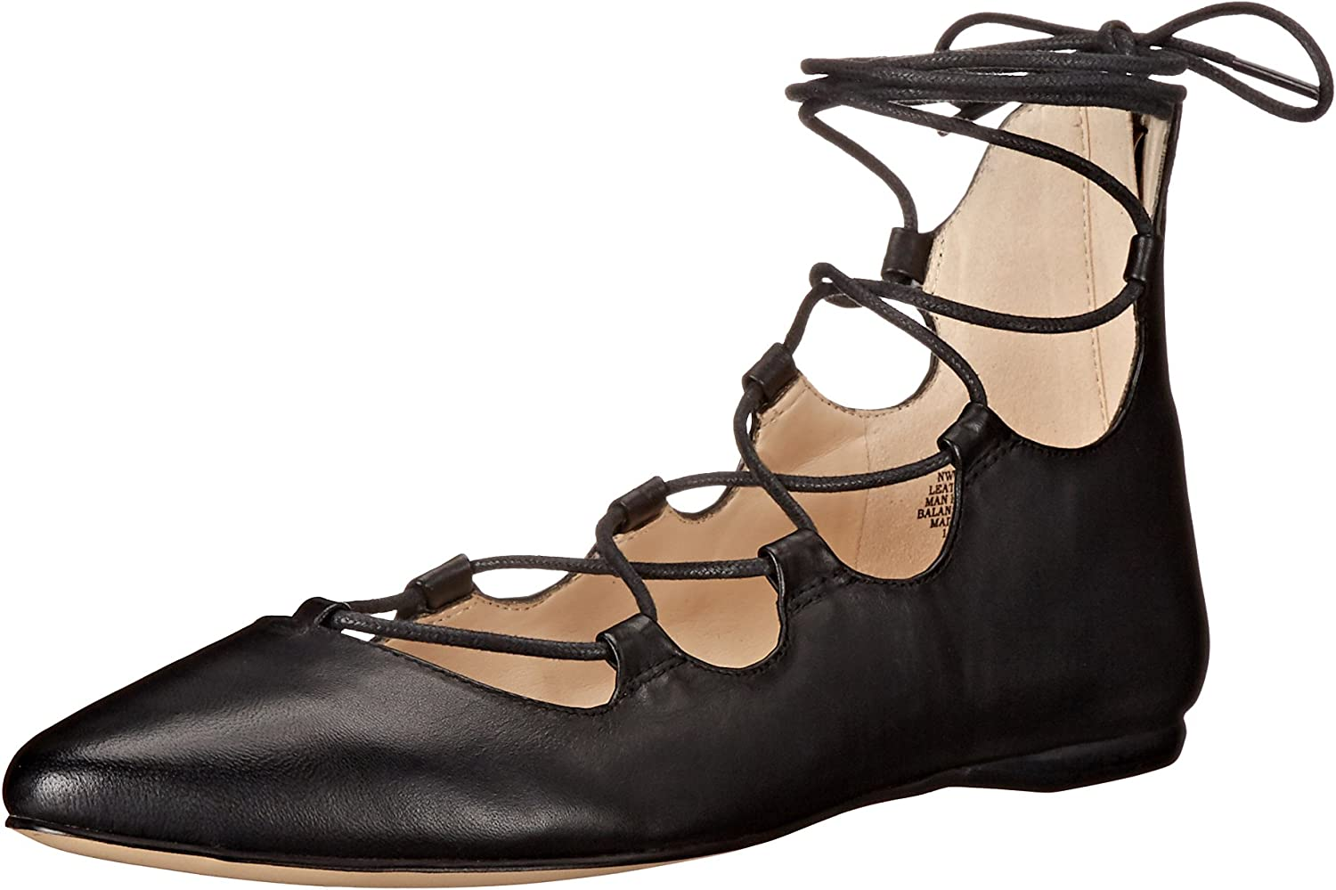 Nine West Womens Signmeup Leather Ballet Flat