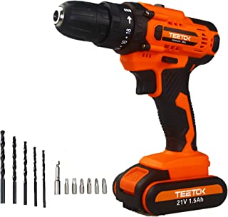 Sponsored Ad – 21V Cordless Drill Driver with Led Work Light, Professional Electric Screwdriver Drill with 12PCS Bits, 150...