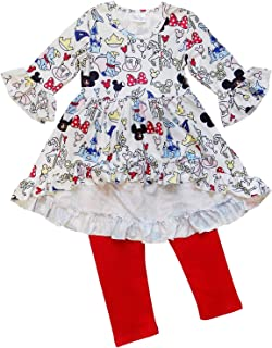 Girls Toddler Pink or Red Minnie Mouse Kids Boutique Dress or Outfit
