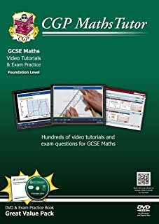 MathsTutor: GCSE DVD-ROM Tutorials and Exam Practice Pack - Foundation Level (A*-G Resits)