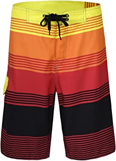 Nonwe Men's Swim Trunks Surf Swimwear Pockets Summer Holiday Red 38