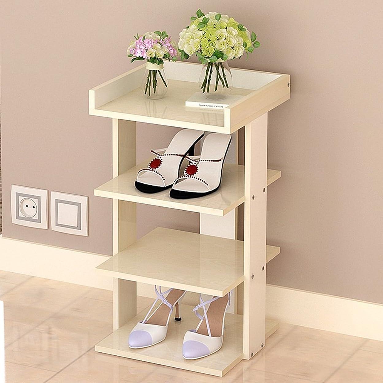 現代コンサート耐えられるNAN liang 靴ラック直立シェルフシェルフレイヤー4廊下ベッドルーム28.1 * 30 * 53cm 自宅に適しています (色 : 3)