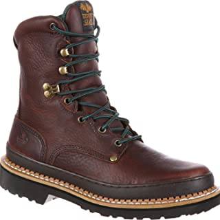 Georgia Men's Giant Work Boot-M Farm and Ranch, Soggy Brown, 9 W US